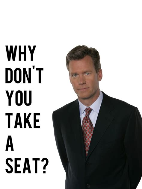 Take A Seat Meme - quot chris hansen why don t you take a seat quot by helmofdismay redbubble
