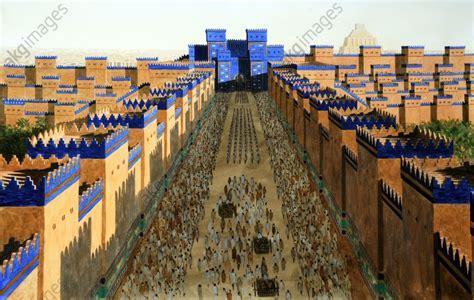 akg images la porte d ishtar 224 babylone o 249 les h 233 breux en exil passent pour entrer dans la