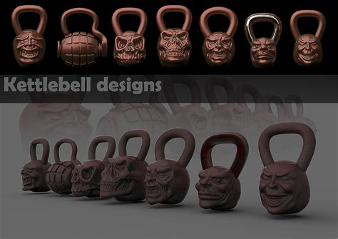 kettlebell designs skull grenade cadcrowd cad crowd
