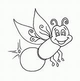 Firefly Pages Coloring Lightning Bug Clipart Fireflies Printable Glow Colouring Worm Lightening Outline Drawing Colorluna Sheets Lonely Very Clip Bugs sketch template
