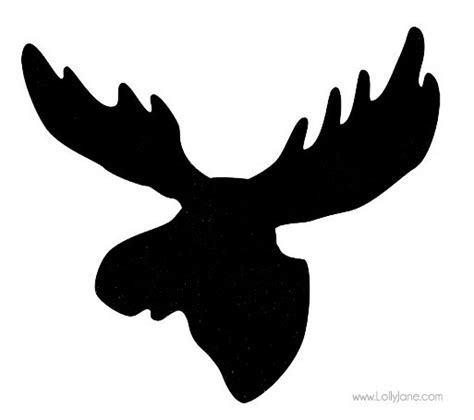 moose wood framed sign tutorial printables moose head moose and clip art