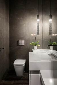 decoration toilettes elegante et moderne With salle de bain design avec fleurs synthétique décoration