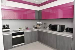 a splash of color 13 colorful kitchen design ideas With kitchen colors with white cabinets with gray and purple wall art