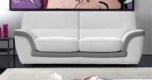 canape cuir modernepersonnalisable sur univers du cuir With canapé bicolore cuir