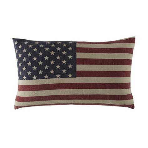 usa american flag cotton cushion 40 x 60cm maisons du monde