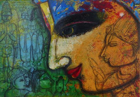 Lord Rama by artist Pramod Reddy Gade ? Traditional, Painting   Mojarto   173253