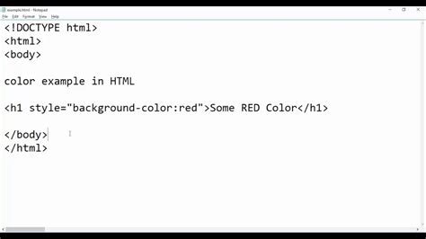 html style color html coloring text style tag