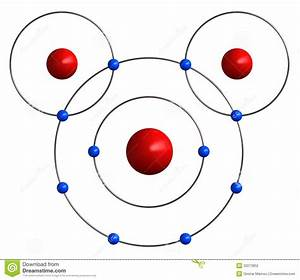 Molecular Structure Of Water Stock Illustration