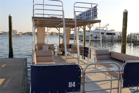 Pontoon Boats With Slides by Pontoon Boats With Slides Destin Vacation Boat Rentals