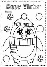 Pages Coloring Winter Activity Preschool Worksheets Fun Colouring Crafts Sheets Activities Craft Season Work Montessori Christmas Includes Different These sketch template