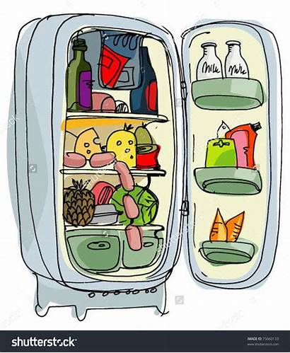 Fridge Refrigerator Clipart Cartoon Open Cleaning Dirty