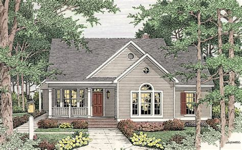 Open Floor Plan 6293V Cottage Country Traditional
