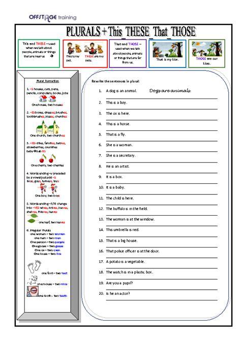 plurals     exercises