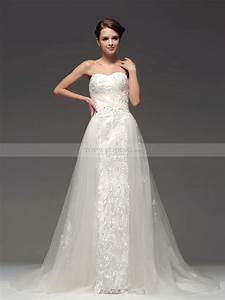 sweetheart tulle a line wedding dress with sequined skirt With a line tulle wedding dress