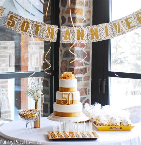 golden 50th anniversary party ideas kate aspen blog