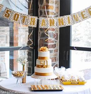 golden 50th anniversary party ideas kate aspen blog With 50 wedding anniversary party ideas