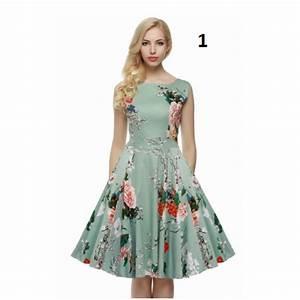 robe diana robe mi longue robe vintage robe fleuri With robe mi longue grande taille