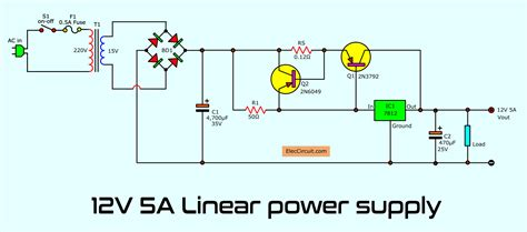 Simple Designing Linear Power Supply Eleccircuit