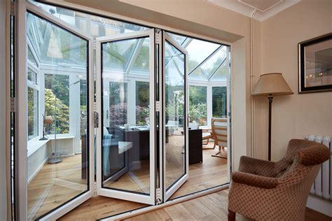 white bifold doors bi fold doors folding door range anglian home