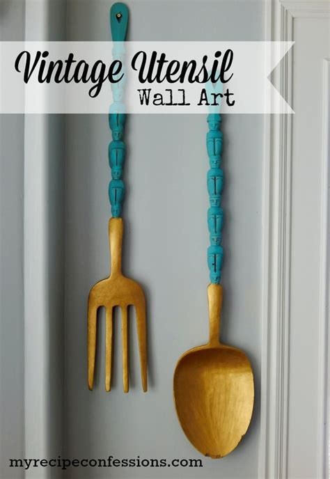 Wooden Fork Spoon Knife Wall Decor by Wooden Kitchen Utensil Wall My Recipe Confessions
