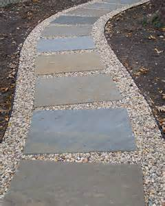 Walkways with Pavers and Pea Gravel