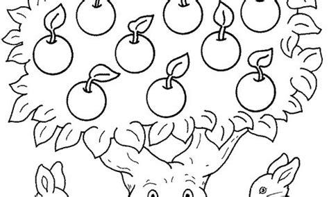 Kleurplaat De Spin Die Het Te Druk Had by Kleurplaat Appels Thema Fruit Appels En Fruit