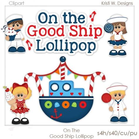 lolly pop on the ship lollipop kristi w misc clipart