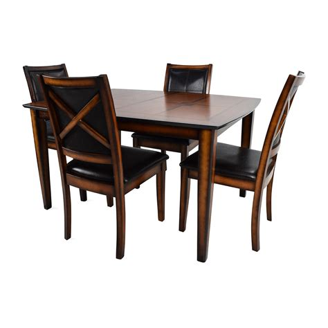 shop white 6 chair dining set