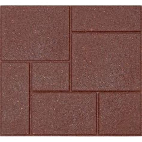 Recycled Rubber Flooring Home Depot by Envirotile Cobblestone 18 In X 18 In Terra Cotta Paver
