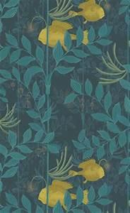 Papier Peint Japonisant : papier peint feuille de palme vert home pinterest ~ Premium-room.com Idées de Décoration