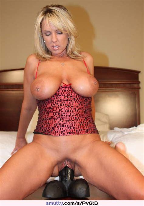 Piercednipples Dildo Blonde Hot Sextoy Piercedpussy