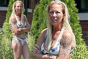 Kim Mathers, the ex-Wife of Rapper Eminem on Blue Bikini ...