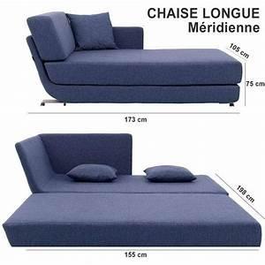 Méridienne Convertible 2 Places : lounge sofa 3 places convertible m ridienne et pouf ~ Teatrodelosmanantiales.com Idées de Décoration