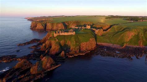 dji inspire  dunnottar castle scotland  youtube