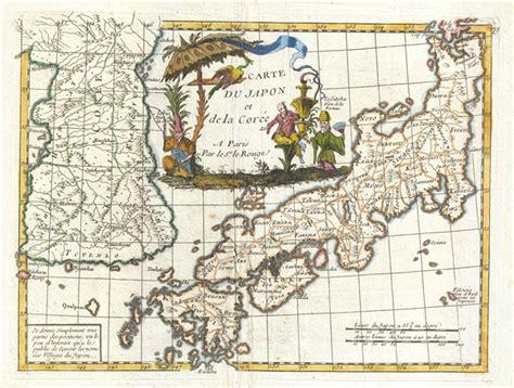 Nouvelle Carte Du Monde Japonais by Carte Du Japon Et De La Cor 233 E Geographicus Antique Maps