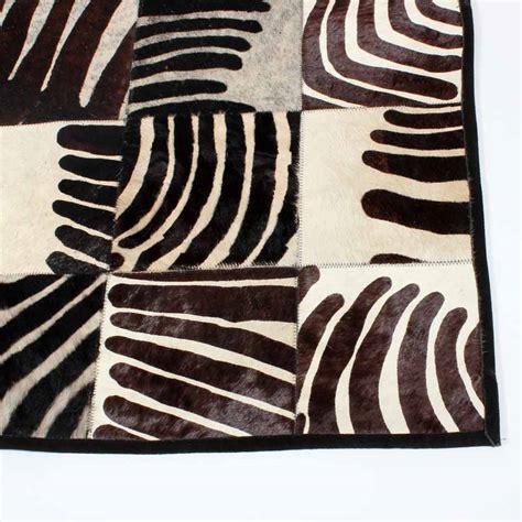 Fake Zebra Rug by Faux Zebra Print Cow Rug