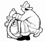 Coloring Firefighter Hydrant Fire Shamu Clipart Colorear Coloringcrew Library sketch template