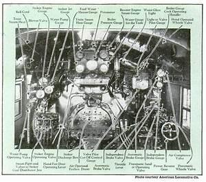 Cab Interior Detailed American Locomotive Co