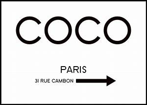 Coco Chanel Bilder : rue cambon plakat ~ Cokemachineaccidents.com Haus und Dekorationen