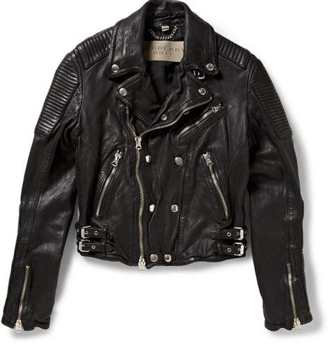 leather apparel lyst burberry brit leather biker jacket in black for men