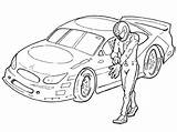 Nascar Coloring Printable Everfreecoloring Disney Cars sketch template