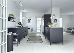 Boden Für Küche : ideen f r eine schwarze k che planungswelten ~ Sanjose-hotels-ca.com Haus und Dekorationen