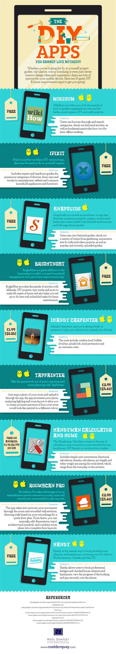 diy apps the diy apps you cannot live without infographic