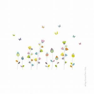 sticker fleurs aux papillons deco chambre bebe et enfant With affiche chambre bébé avec envoyer des fleurs et des chocolats