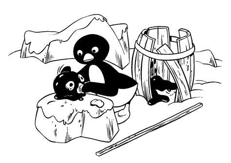 Pingu Kleurplaat by Kleurplaten En Zo 187 Kleurplaat Pingu