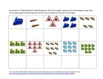 train counting  worksheet  images worksheets
