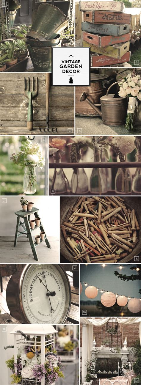 home and garden decor ideas for vintage garden decor and outdoor accessories