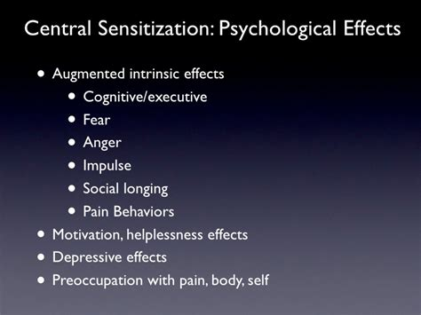central sensitization  chronic pain