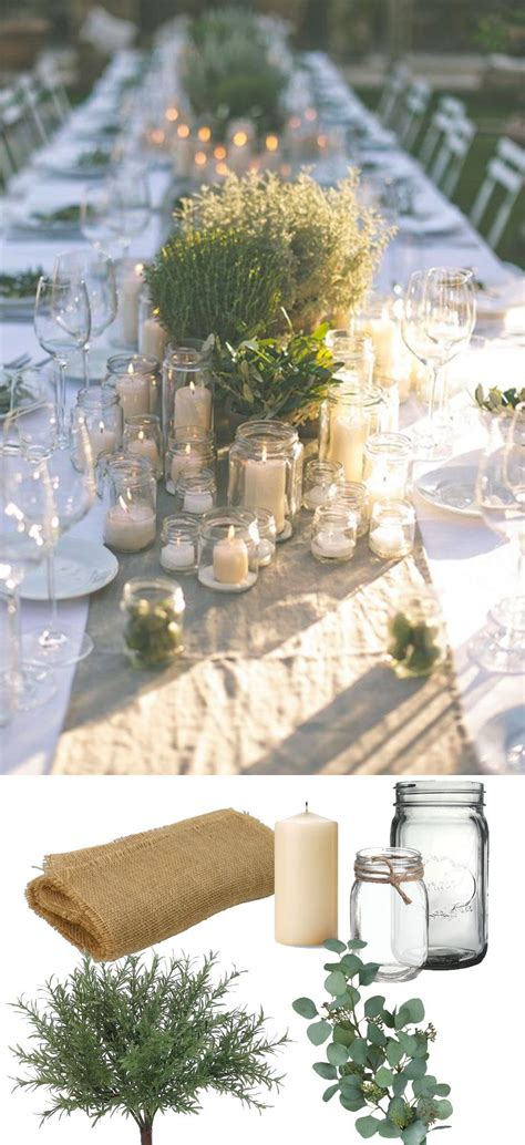 Beautiful rustic green tablescape Recreate this look with