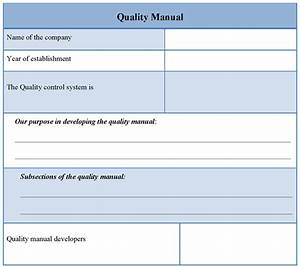 manual template for quality sample of quality manual With free quality control manual template
